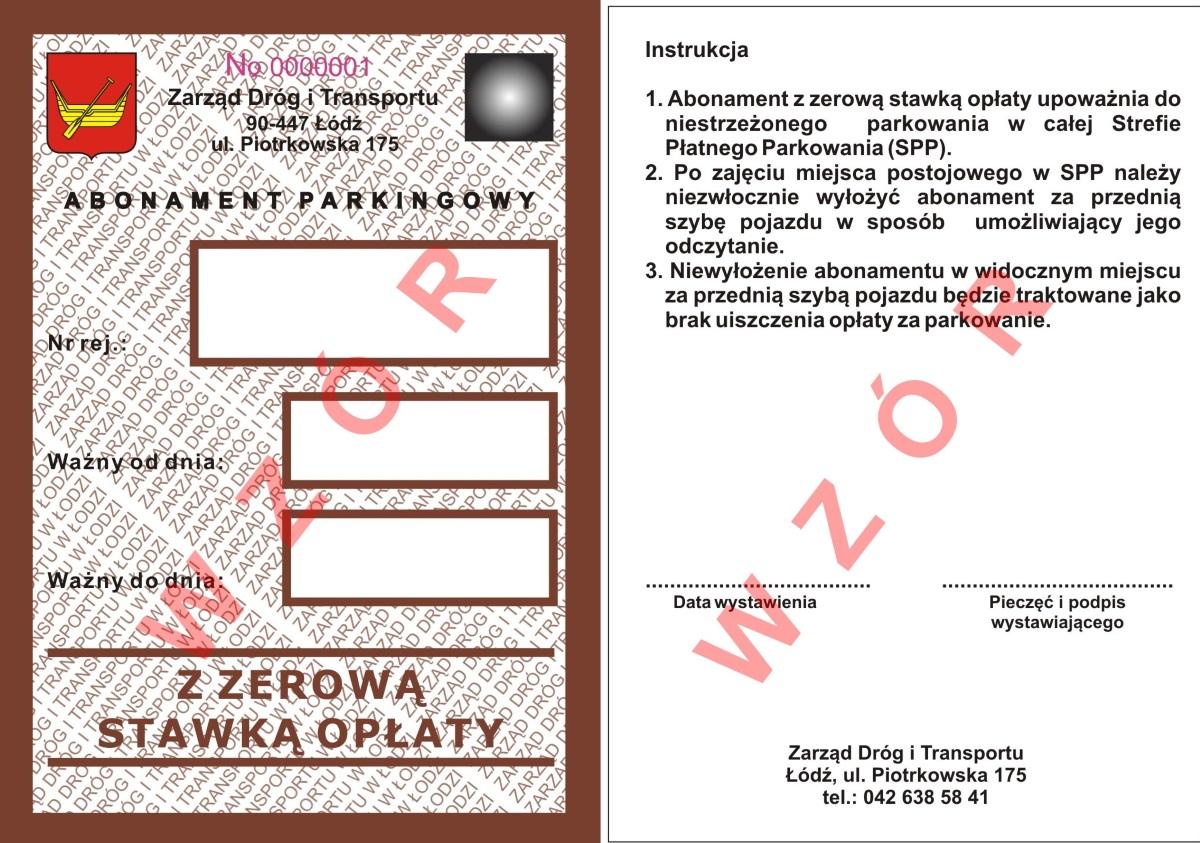 91e44955f5dd5f Abonament parkingowy dla pojazdów wykorzystywanych do opieki hospicyjnej  chorych; 2) pojazdów Honorowych Obywateli Miasta Łodzi;